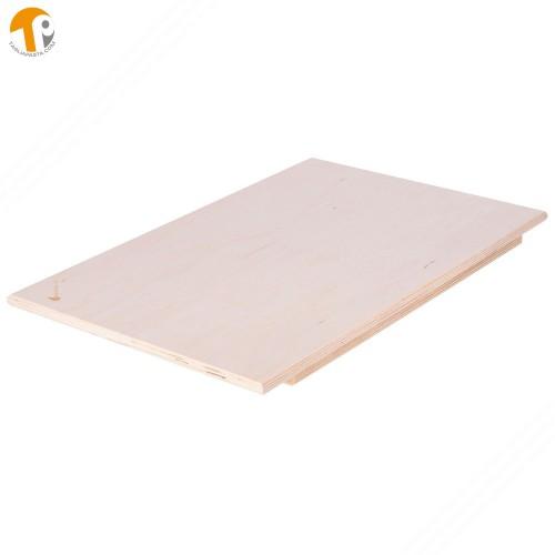Asse da pasta in legno di betulla multistrato. Dimensioni tagliere: 100x60x1,2 cm